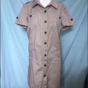 Atmosphere Tan Military Style Dress